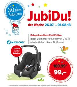 [BabyOne] Maxi Cosi Pebble Black Diamond. jubidu der Woche