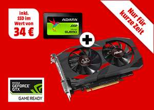 ASUS GeForce® GTX 1050Ti Cerberus Advanced 4GB + ADATA Ultimate SU650, 120 GB SSD (GRATIS)