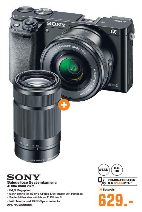 Sony Alpha 6000 y Doppelzoom Kit [Lokal] Saturn Reutlingen Wiedereröffnung