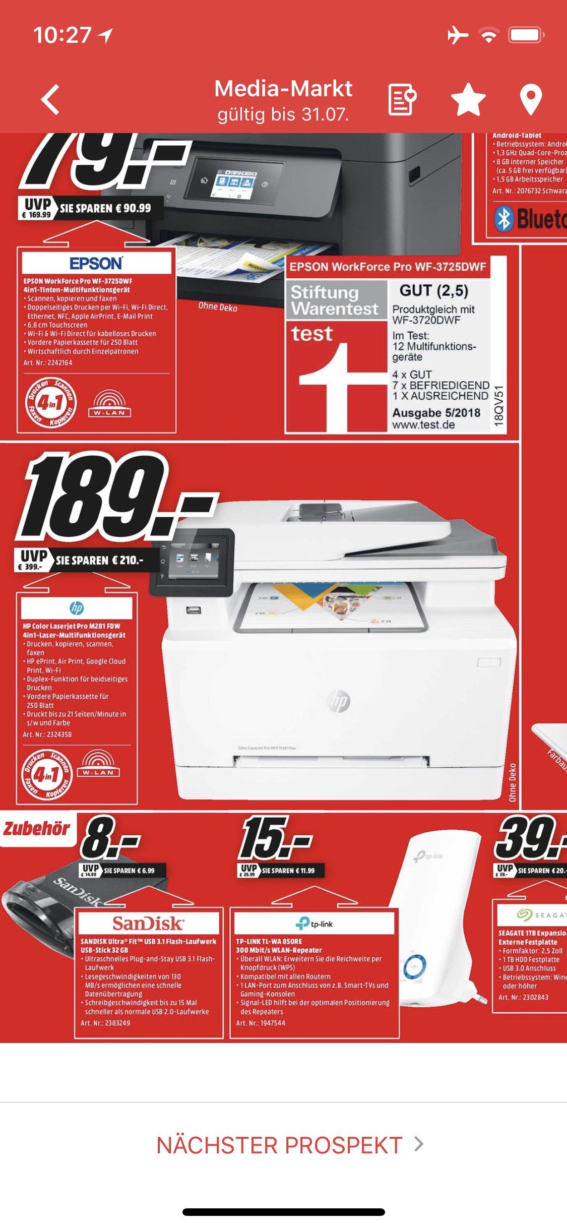 [Media Markt München Haidhausen] HP Laserjet Pro M281 FDW