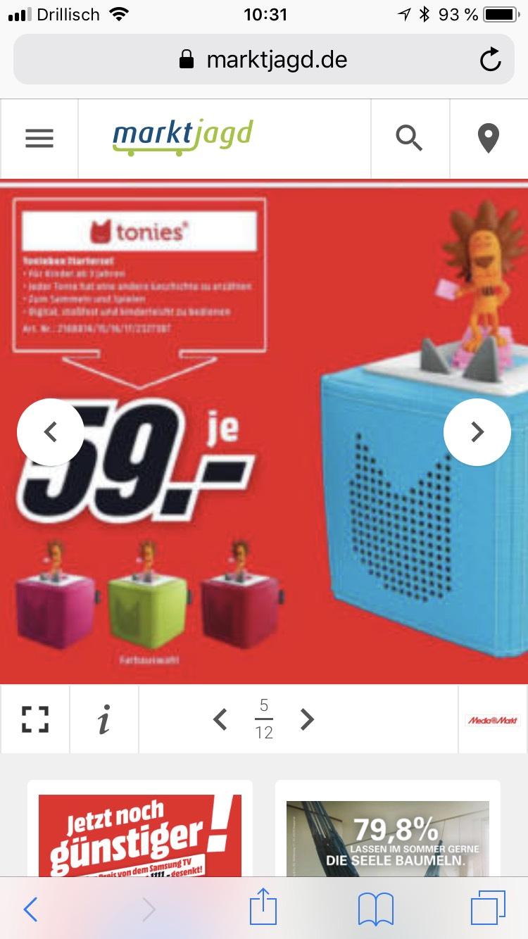 MediaMarkt Potsdam - Tonies Toniebox 59€ - 3 für 2 Aktion Tonies Figuren