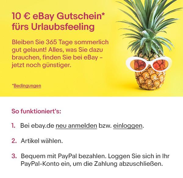 Personalisierten 10€ Gutschein für eBay