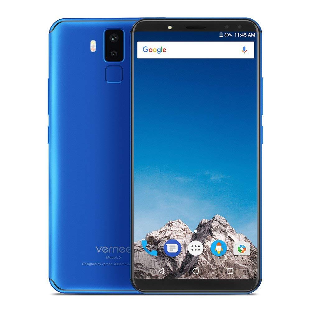 "[Amazon.es] Vernee X - 5.99"" FHD+ 18:9, MT6763 Octa-Core 2.0 Ghz, 6GB Ram, 128GB Speicher, 6200 mAh, 16MP, Face ID, Band 20 (Farbe blau)"