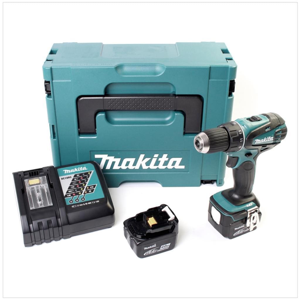 Makita Akku-Bohrschrauber DDF446 RMJ inkl. zweitem 4,0 Ah Akku, Schnellladegerät und MAKPAC Koffer