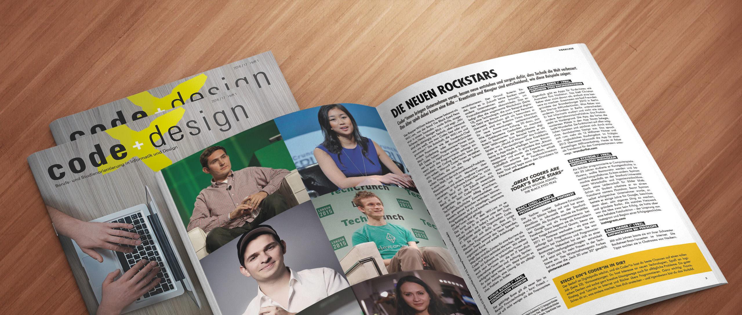Code+Design Magazin - Berufsbilder digitale Wirtschaft - kostenlos bestellen