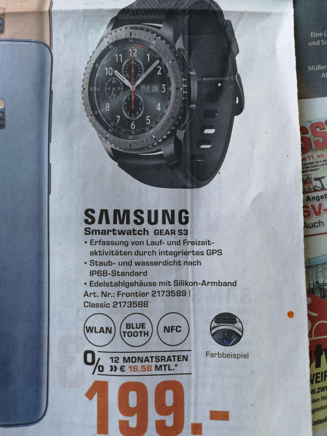 [lokal Reutlingen] [Saturn] Samsung GearGear S3 Classic oder Frontier