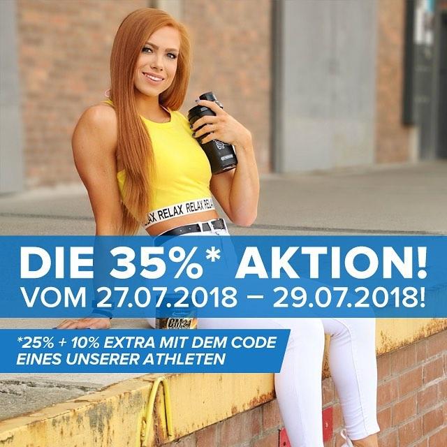 35 % Aktion bei IronMaxx - Whey Protein ab 14,36 Euro, Trainingshandschuhe ab 9,69 Euro