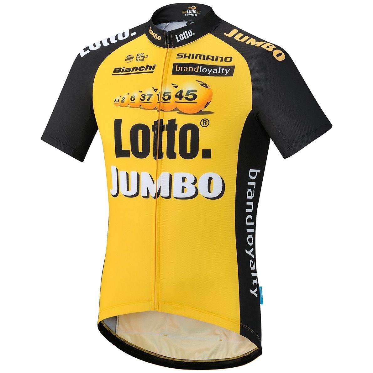 Radtrikot Team LOTTONL-JUMBO Jersey Repl., 13,99€ zzgl. Versand, Trikot, Fahrradtrikot und Trägerhose. Bei Pearl Izumi