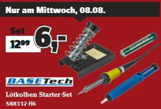 [Conrad am 08.08] Basetech ZD-30B Lötkolben-Set 230 V 30 W Bleistiftform inkl. Ablage, inkl. Entlötsaugpumpe, inkl. Lötspitze für 6,-€