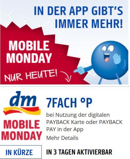 7-fach Payback-Punkte bei DM am Mobile Monday, 30. Juli 2018