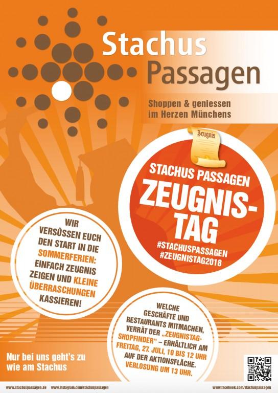 [Lokal München Stachus Passagen] Kleine Präsente und Überraschungen am Zeugnistag 2018, Freitag 27. Juli von 10-12