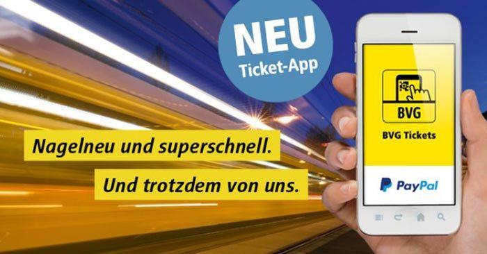[BVG BERLIN] 15€ Rabatt auf den Kauf einer Monatskarte in der App mit PayPal