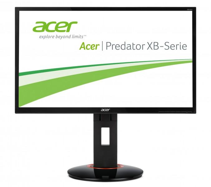 "[comtech] Acer Predator XB240HBMJDPR - 24"" Full HD Monitor (1920x1080, 350cd/m², 1ms, TN-Panel, 144 Hz, DVI, HDMI, DP, Höhenverstellbar, Pivot, VESA, Nvidia 3D Vision 2)"