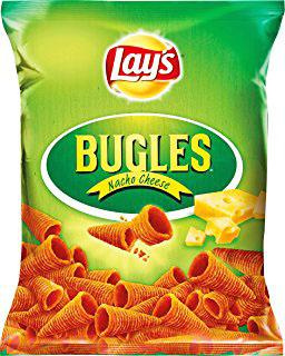 (Jawoll) Lays Bugles Mais-Hörnchen, verschiedene Sorten und Doritos Roulette für 0,69€