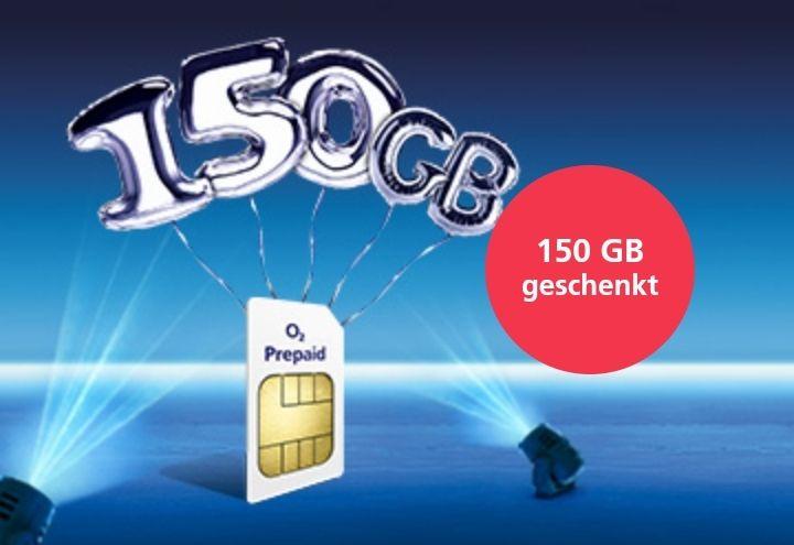 Kostenlose o2 Freikarte mit 1€ Startguthaben + 150GB Datenvolumen geschenkt! Ohne Vertrag & Grundgebühr!