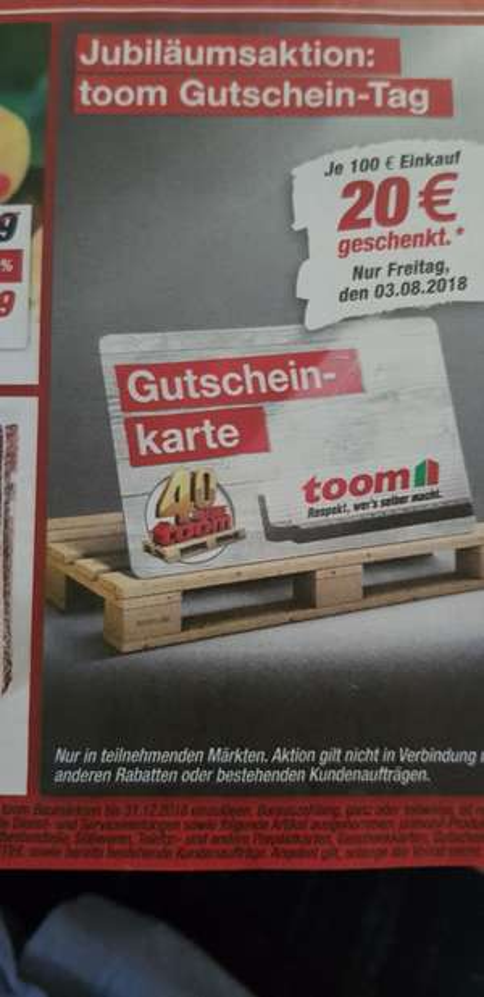 Toom Baumarkt 20€ je 100€ Einkauf