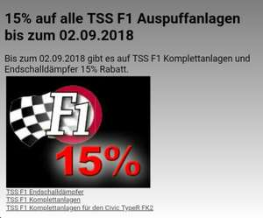 Honda Tuning TSS F1 Mittel- und Endschalldämpfer