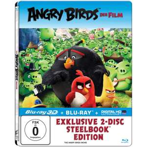 Angry Birds - Der Film Limited Steelbook Edition (3D Blu-ray + Blu-ray + UV Copy) für 7,99€ (Saturn)