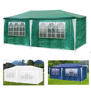 Pavillon / Partyzelt 3 x 6 m inkl. 4 Seitenteile mit Fenstern