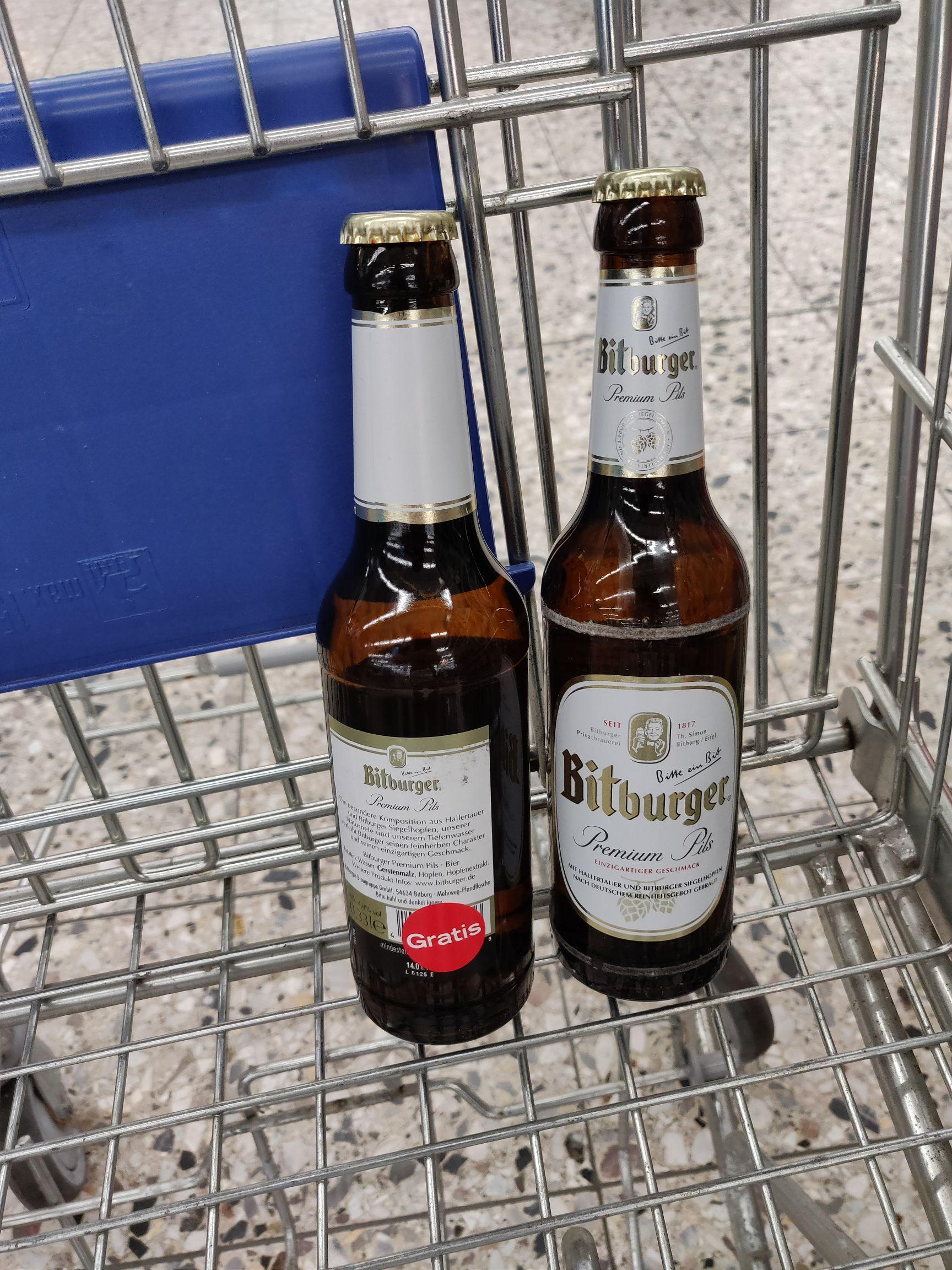 [Wesel] real 2 Flaschen Bitburger gratis