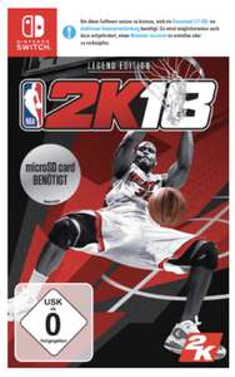 Lokal Saturn Bielefeld Nintendo Switch NBA 2K18 Legend Edition