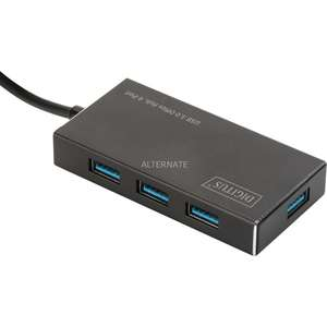 DIGITUS USB 3.0 OFFICE HUB 4-PORT, USB-HUB