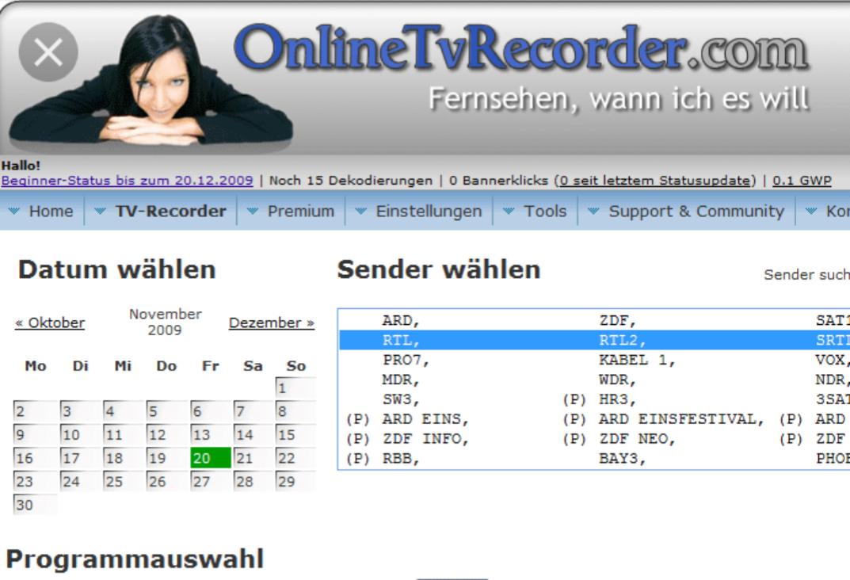 [onlinetvrecorder.com] (fast) alles was (ab Registrierung) im FreeTv läuft für 99ct sehen
