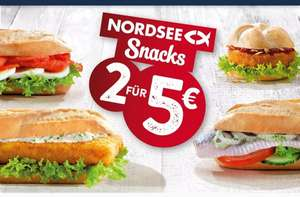 Nordsee Aktion: 2 Snacks für 5€