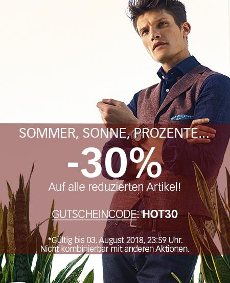 [Carl Gross] weitere 30% auf Sale: zB Businessanzug mit Super-110-Stoff für 150€