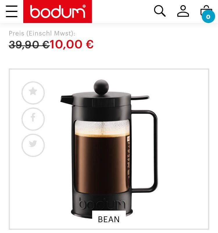 Bodum Bean Kaffeebereiter 1 Liter