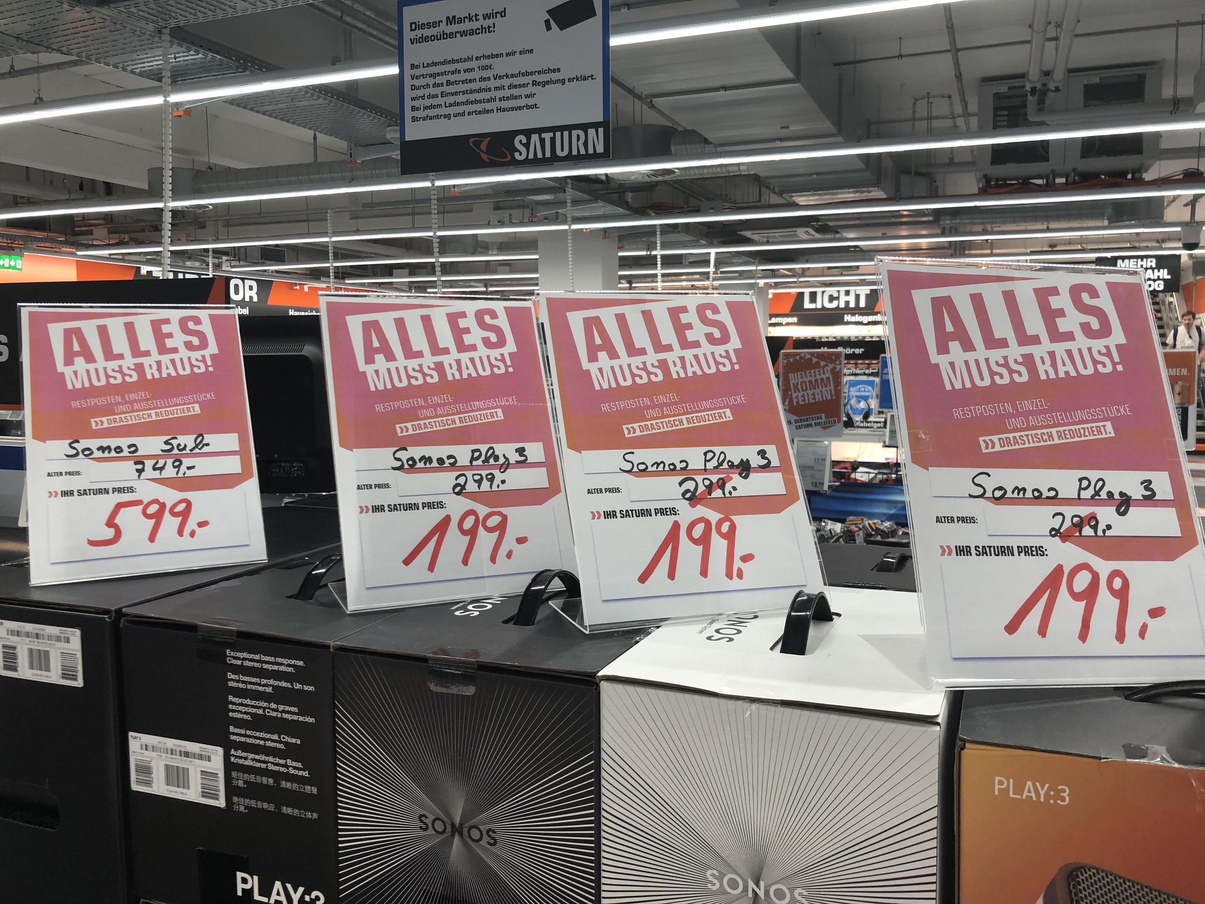 Sonos Sub + Play:5 + Playbar etc.  (Lokal Saturn Bielefeld)