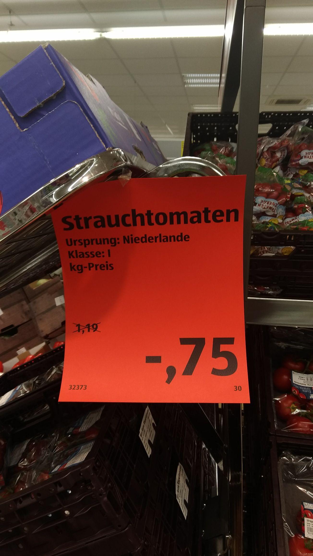 [Lokal?? Aldi Köln Chorweiler] Straichtomaten 1 kg nur 75 cent