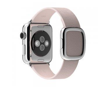 Apple Watch 38 mm Modernes Lederarmband Large soft pink