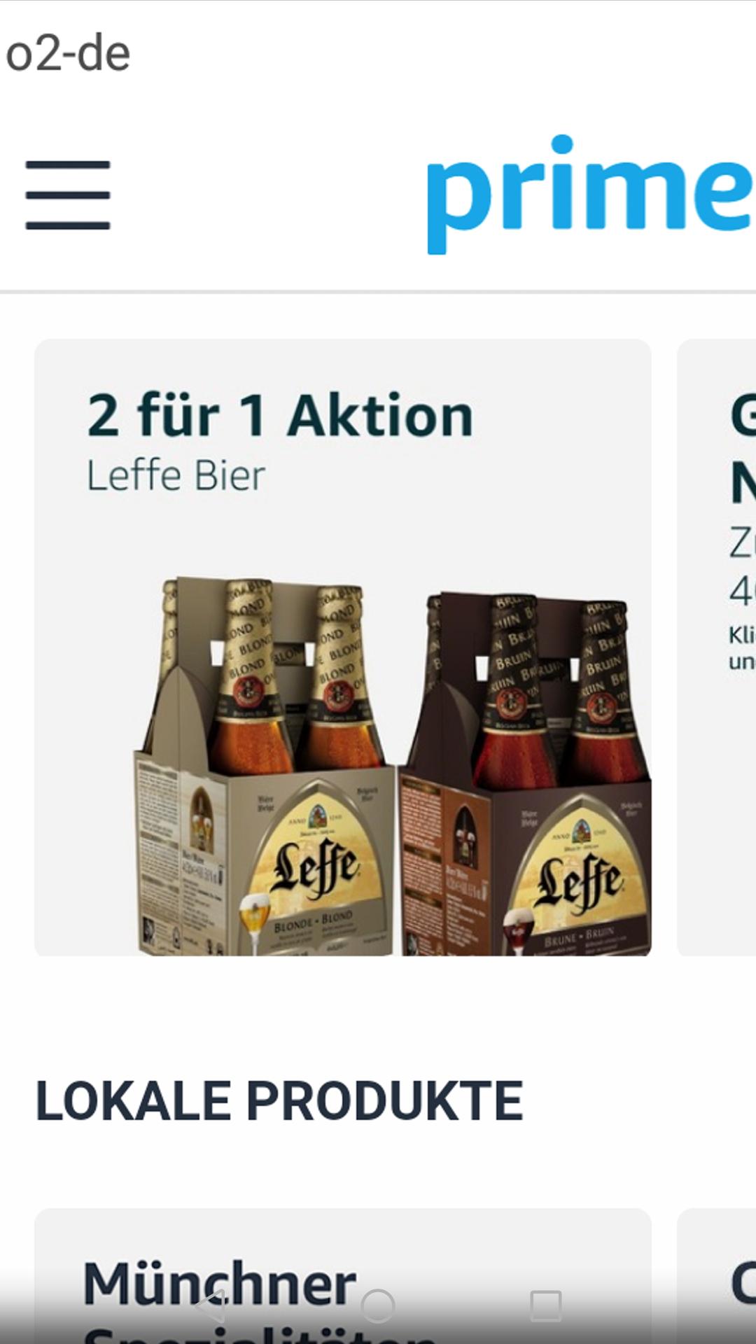 *Lokal Berlin & München* 4er-Pack Belgisches Leffe Bier 2 für 1 (0,75€ pro Flasche) Amazon PrimeNow