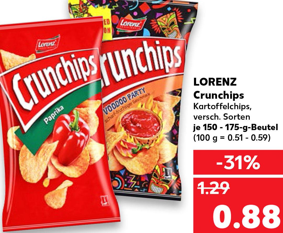 (Kaufland) Lorenz Crunchips nur 88 Cent