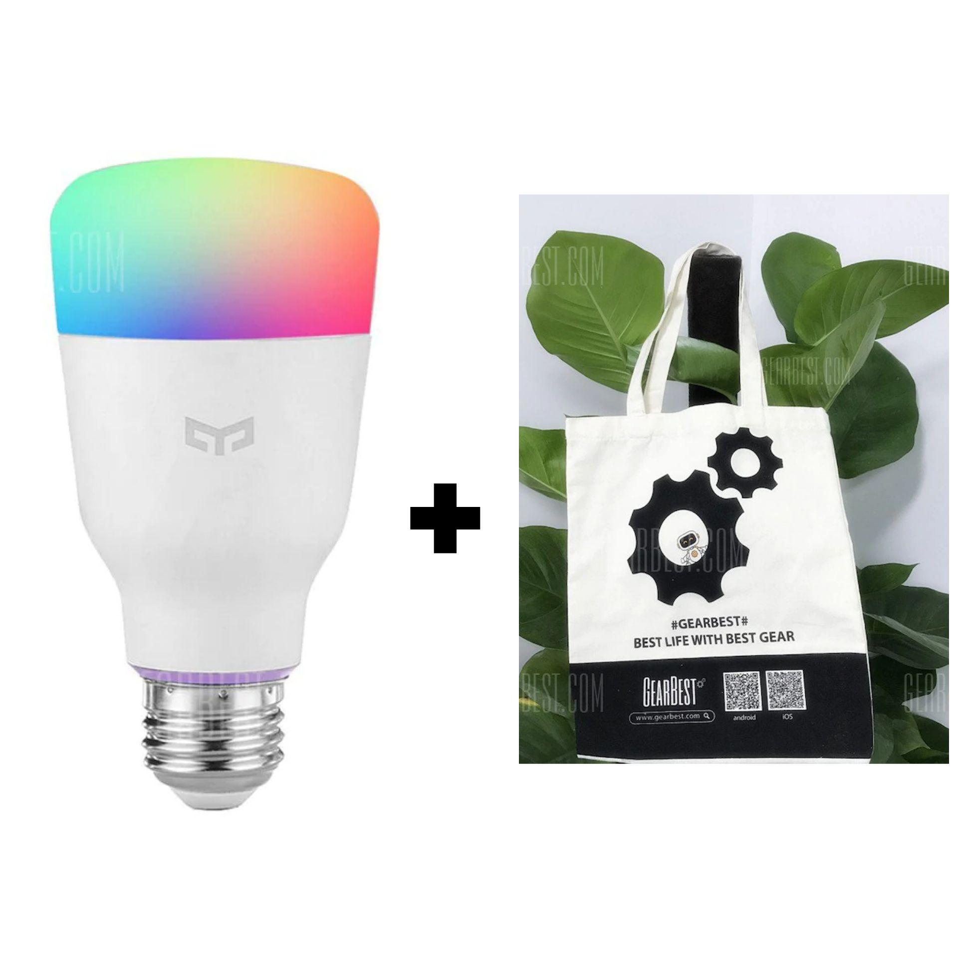 [Gearbest] Yeelight RGB Bulb + Gearbest Handtasche aus EU Lager