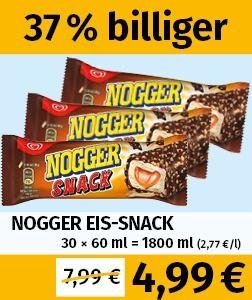 [LOKAL Berlin-Biesdorf, Berlin-Britz, Hohenwarsleben, Halle/Saale, Jänickendorf, Leipzig] [frostkauf] Nogger Eis-Snack