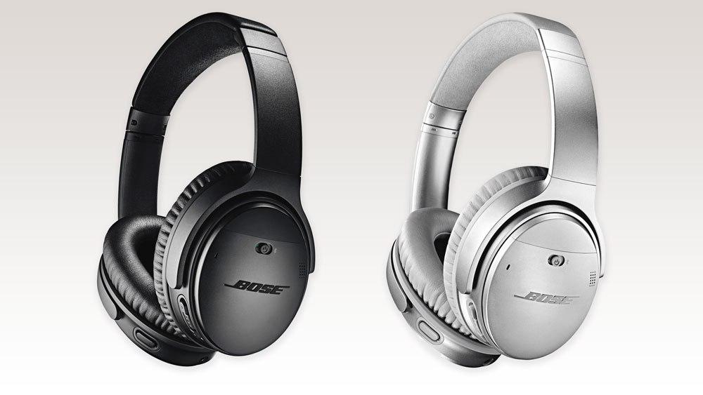 Im Bose Store (München): Bose QC35 II QuietComfort Headphones kabellos Schwarz/Silber
