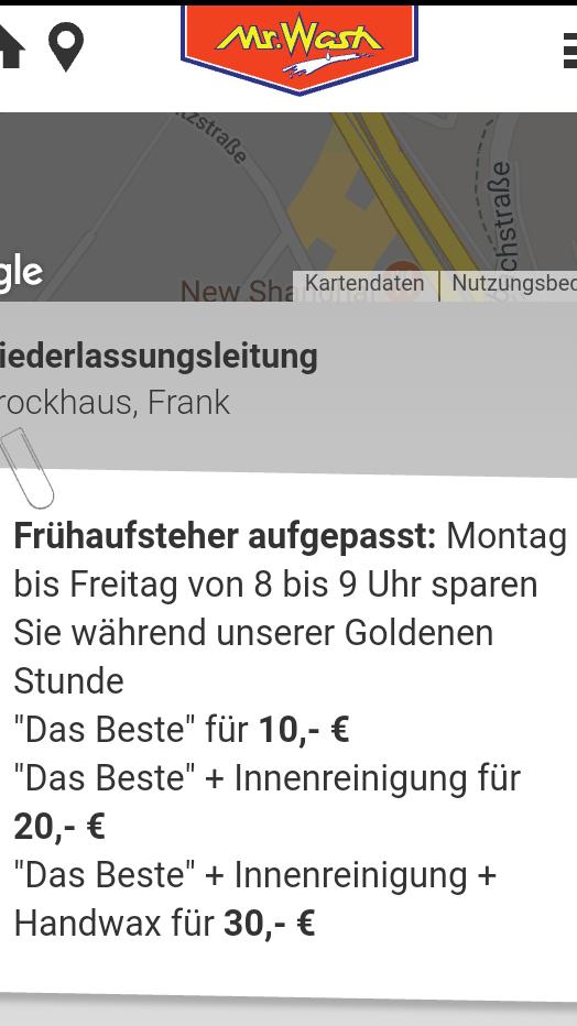 (Lokal?!)Mr. Wash FrühaufsteherRABATT Stuttgart