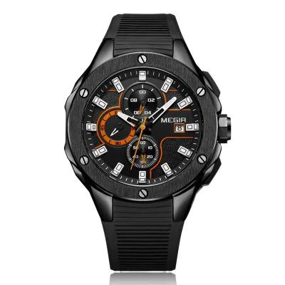 [GEARBEST] MEGIR MN2053 Men Quartz Watch - BLACK 2