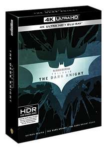 The Dark Knight Trilogie 4K (3 4K UHD + 3 Blu-ray + 3 Bonus Blu-ray + UV Copy) für 38,63€ (Amazon FR)