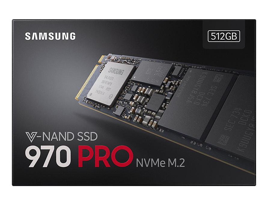 SAMSUNG NVMe SSD 970 Pro, 512 GB, Schwarz 170,05 incl. Versand