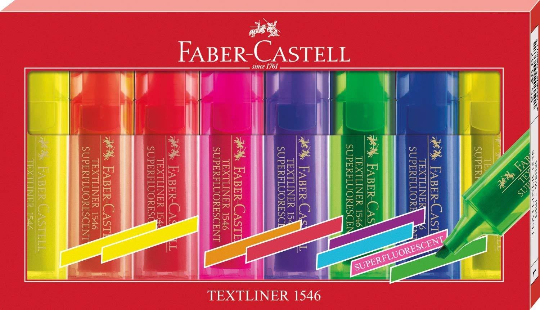 Faber-Castell Textmarker Textliner 1546, 8-er Etui für 2,49€ (Müller)