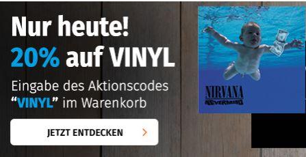 20% auf VINYL / Schallplatten [Müller Sonntagsknüller]
