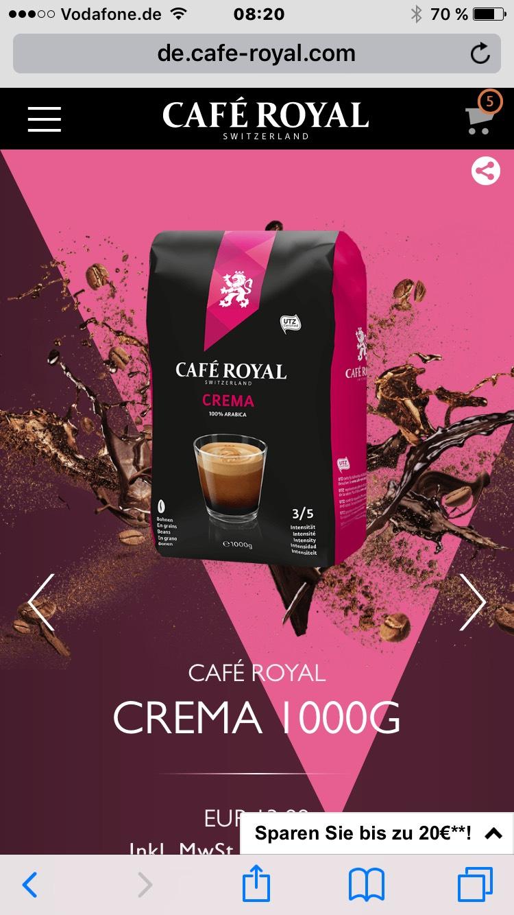 Café Royale Crema 1000Gr.