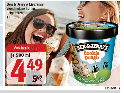 [Globus Rostock] Ben & Jerry's Eis verschiedene Sorten - Lokaler Deal scheinbar