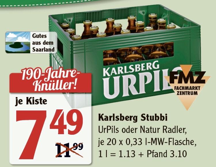 [Lokal Saarland] Karlsberg Ur-Pils für 7,49€ bei Globus