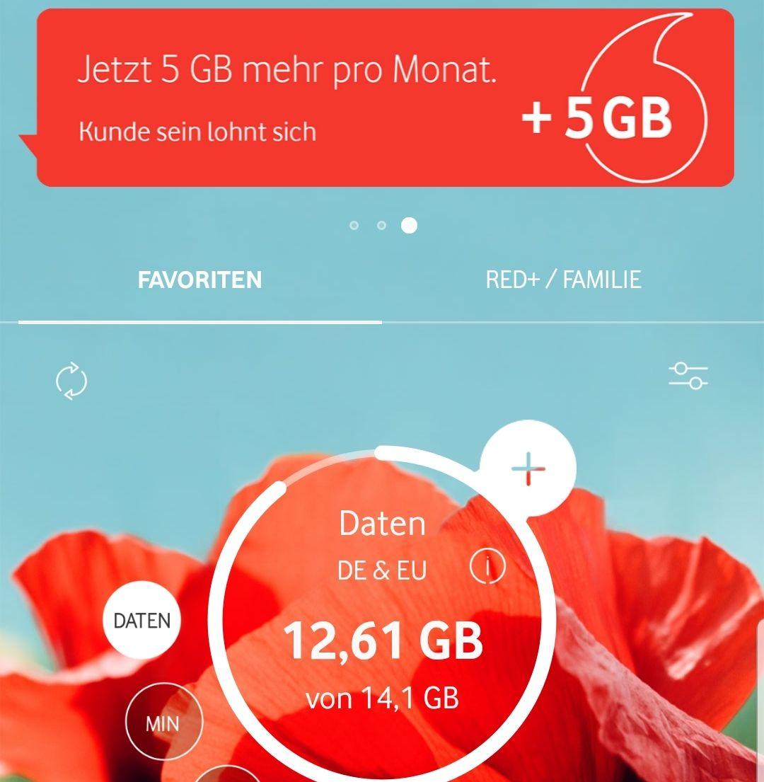 Vodafone 5GB für 2€ mehr im Monat