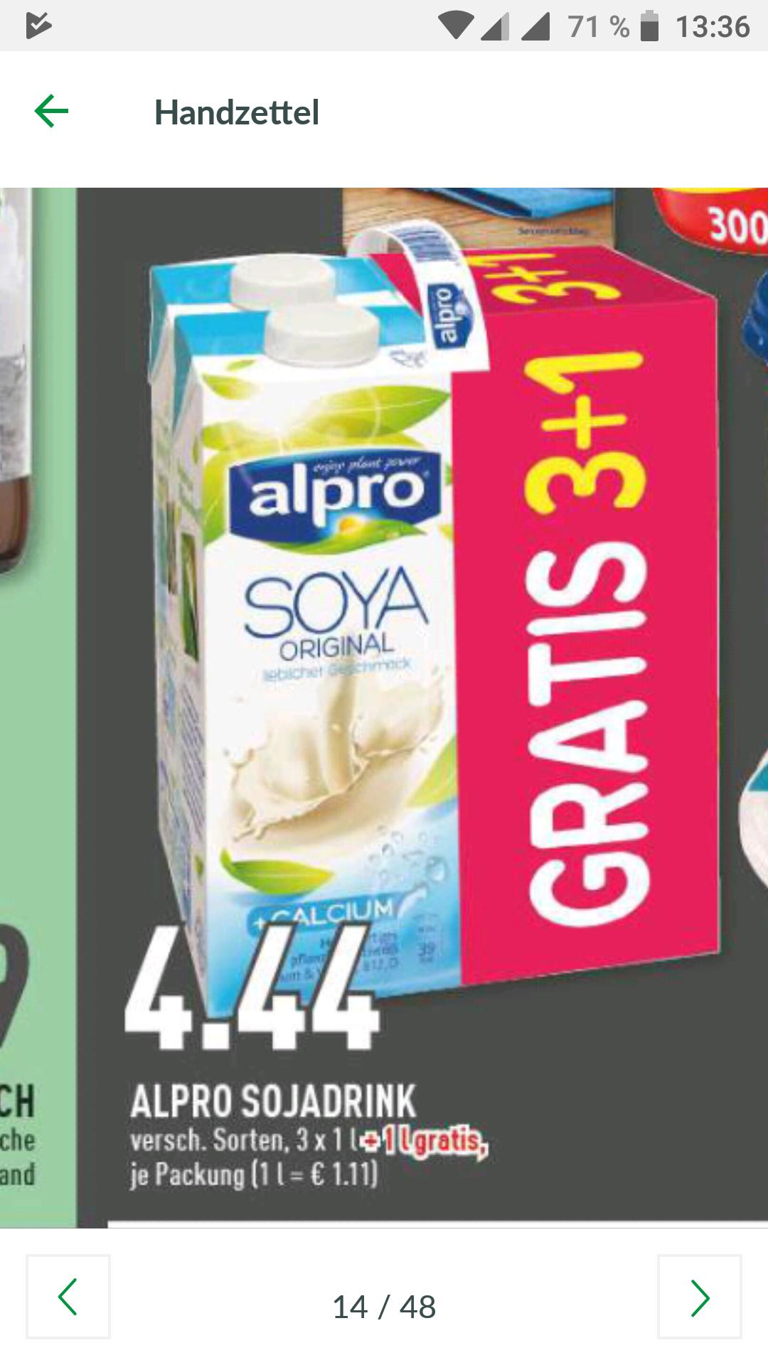 [Marktkauf Rhein-Ruhr] Alpro Soya Drink 4er
