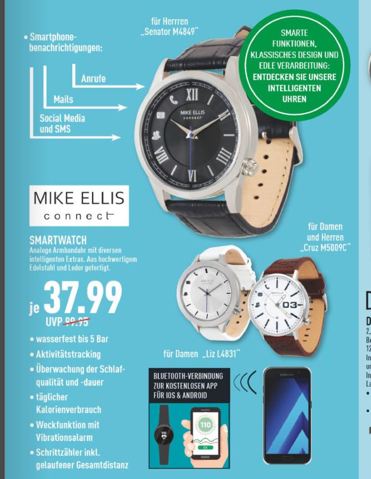 Mike Ellis Smartwatch Senator/Cruz/Liz (iOS/Android) [Marktkauf offline]